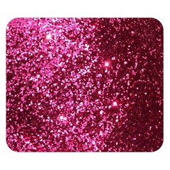 Pink Glitter Double Sided Flano Blanket (small)