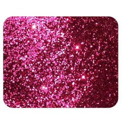 Pink Glitter Double Sided Flano Blanket (medium)
