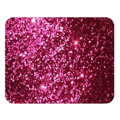 Pink Glitter Double Sided Flano Blanket (large)