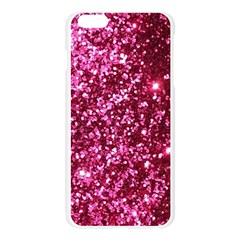 Pink Glitter Apple Seamless iPhone 6 Plus/6S Plus Case (Transparent)