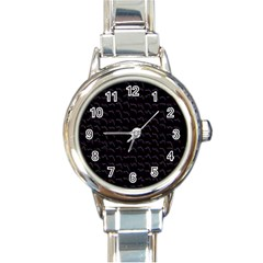 Smooth Color Pattern Round Italian Charm Watch