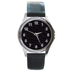 Smooth Color Pattern Round Metal Watch