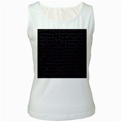 Smooth Color Pattern Women s White Tank Top