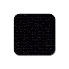 Smooth Color Pattern Rubber Square Coaster (4 Pack)