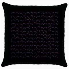 Smooth Color Pattern Throw Pillow Case (black)