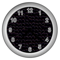 Smooth Color Pattern Wall Clocks (silver)