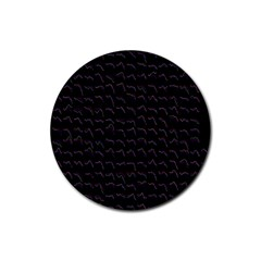 Smooth Color Pattern Rubber Round Coaster (4 Pack)