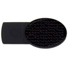 Smooth Color Pattern Usb Flash Drive Oval (2 Gb)