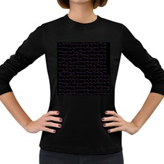 Smooth Color Pattern Women s Long Sleeve Dark T Shirts