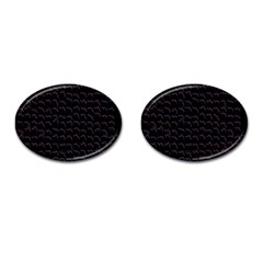 Smooth Color Pattern Cufflinks (oval)