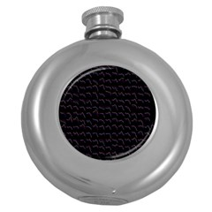 Smooth Color Pattern Round Hip Flask (5 Oz)