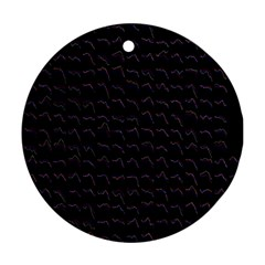 Smooth Color Pattern Round Ornament (two Sides)