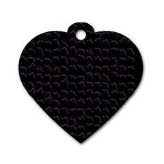 Smooth Color Pattern Dog Tag Heart (two Sides)