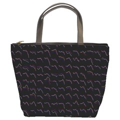 Smooth Color Pattern Bucket Bags