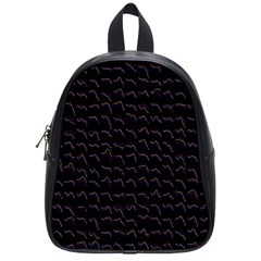 Smooth Color Pattern School Bags (small)