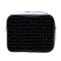 Smooth Color Pattern Mini Toiletries Bags