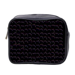Smooth Color Pattern Mini Toiletries Bag 2 Side