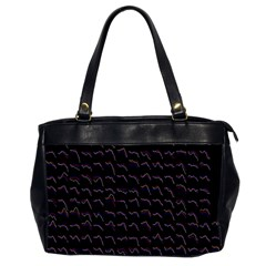 Smooth Color Pattern Office Handbags (2 Sides)