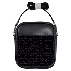 Smooth Color Pattern Girls Sling Bags