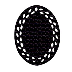 Smooth Color Pattern Ornament (oval Filigree)
