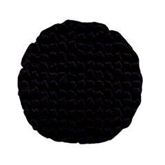 Smooth Color Pattern Standard 15  Premium Round Cushions