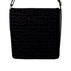 Smooth Color Pattern Flap Messenger Bag (l)