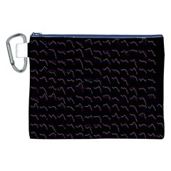 Smooth Color Pattern Canvas Cosmetic Bag (xxl)