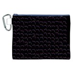 Smooth Color Pattern Canvas Cosmetic Bag (XXL) Front