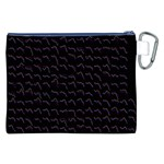 Smooth Color Pattern Canvas Cosmetic Bag (XXL) Back