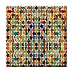 Retro Pattern Abstract Tile Coasters