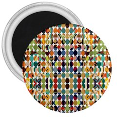 Retro Pattern Abstract 3  Magnets