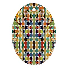 Retro Pattern Abstract Ornament (oval)