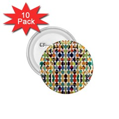 Retro Pattern Abstract 1 75  Buttons (10 Pack)
