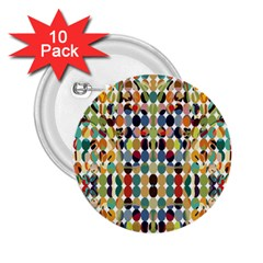 Retro Pattern Abstract 2 25  Buttons (10 Pack)