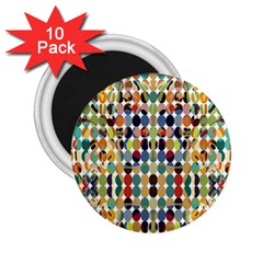 Retro Pattern Abstract 2 25  Magnets (10 Pack)