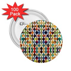 Retro Pattern Abstract 2 25  Buttons (100 Pack)