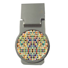 Retro Pattern Abstract Money Clips (round)