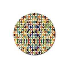 Retro Pattern Abstract Magnet 3  (Round)