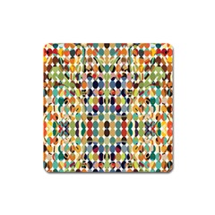 Retro Pattern Abstract Square Magnet