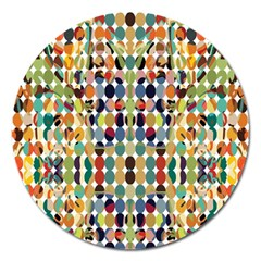 Retro Pattern Abstract Magnet 5  (round)