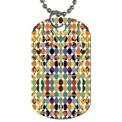 Retro Pattern Abstract Dog Tag (one Side)