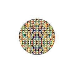 Retro Pattern Abstract Golf Ball Marker (4 Pack)