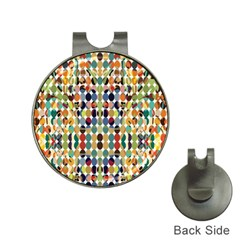 Retro Pattern Abstract Hat Clips with Golf Markers
