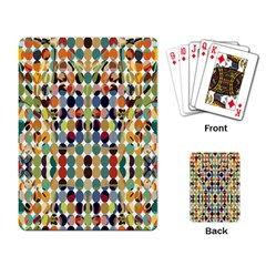 Retro Pattern Abstract Playing Card
