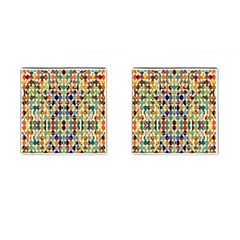 Retro Pattern Abstract Cufflinks (square)