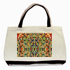Retro Pattern Abstract Basic Tote Bag