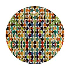 Retro Pattern Abstract Round Ornament (Two Sides)