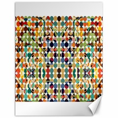 Retro Pattern Abstract Canvas 12  X 16