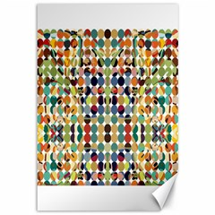Retro Pattern Abstract Canvas 12  X 18