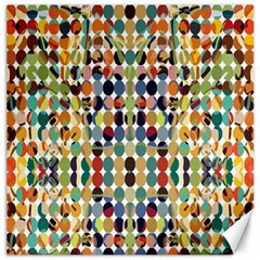Retro Pattern Abstract Canvas 20  X 20